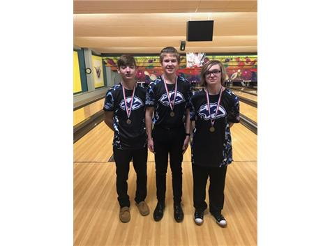 2018-2019 All-Conference, Cody Gleim, Braden Kidd, Austin Griffith (1-5-19)