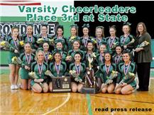 2014 Varsity Cheerleaders take Third at State!  Congrats, girls!