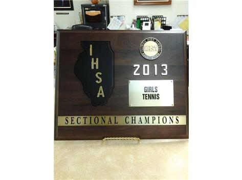 Girls Tennis - 2013 Sectional Champions!