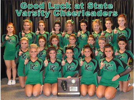 2014 The Varsity cheerleaders won their Sectional for the fourth year in a row, and advance to the IHSA State Championship!