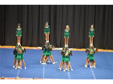2014 Varsity team performing at Sectionals.