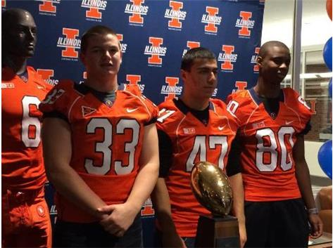 B. O'Hara, R. Warfield and M. Malone (pictured), toured U of I campus and athletic facilities as part of their Core 6 Football team.