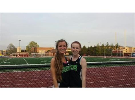 Congrats to Clare O'Donnell new Providence Girls Track record holder in the mile and Emma Griffiths MVP of the ESCC conference meet yesterday at Concordia University.