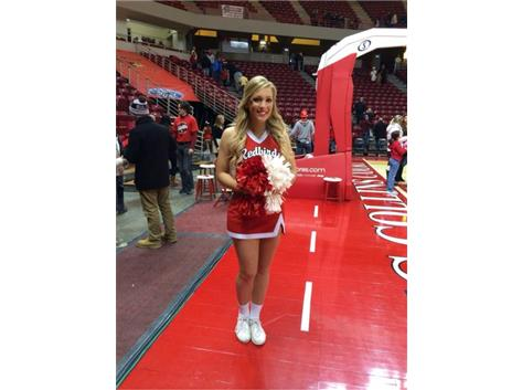 Brittany Charnot -- 2014 PC graduate and Illinois State University cheerleader.
