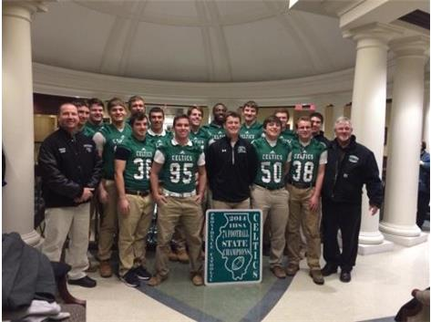 State Champion Football Team is recognized at the Village of New Lenox
