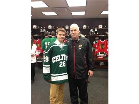 Chicago Blackhawks Alumni Association All Star Michael Altobelli and Coach Quenneville