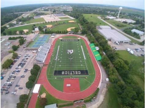 Bishop Kaffer Stadium from the sky. Picture taken by Brian Simowitz