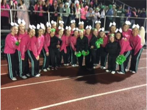 10-23-15 Half-time performance with Down in the Southland Cheer Team.  October is Down Syndrome Inclusion Month.