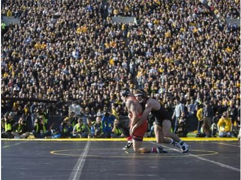 Alumni Eddie Cooper & Eddie Klimara were a part of history on Saturday, wrestling outdoors in front of 42,000 people! What an awesome experience.