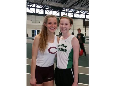 Former Providence State Qualifiers Emma Griffiths and Clare O'Donnell before that meet at Illinois Wesleyan.