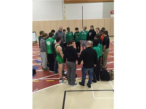 Celtics always begin and end in prayer.