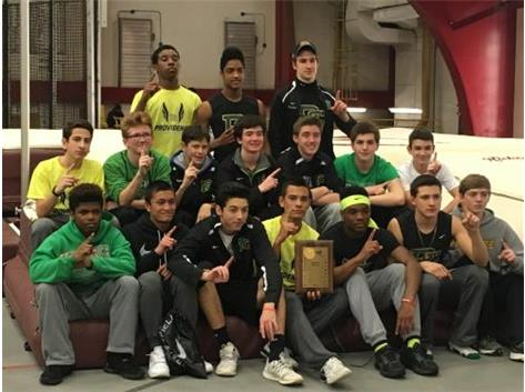 Fresh/Soph Team takes 1st Place at the Indoor Conference Meet