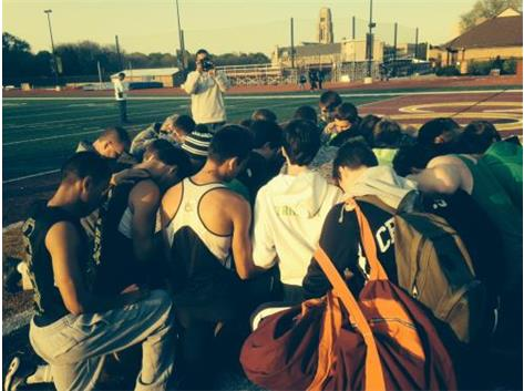 As always the Celtics begin with prayer. CCL Conference Meet 2016