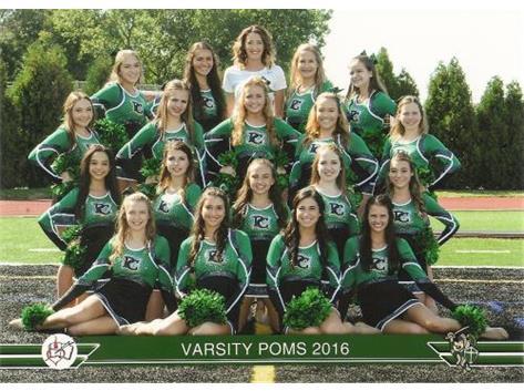 2016-17 Varsity Poms football