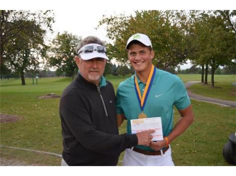 Medalist Ricky Costello at the Don Nichols/Will County Invite