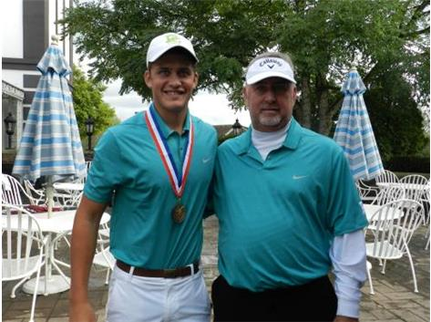 Third Place Medalist Ricky Costello at Catholic Conference with 69