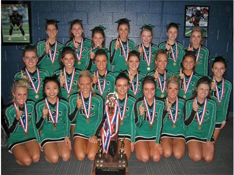 2012-13 Providence Catholic Celtics, Large Varsity Division State Champions!  This first-ever State Cheerleading Championship title, brings the school's State Title count to #26!