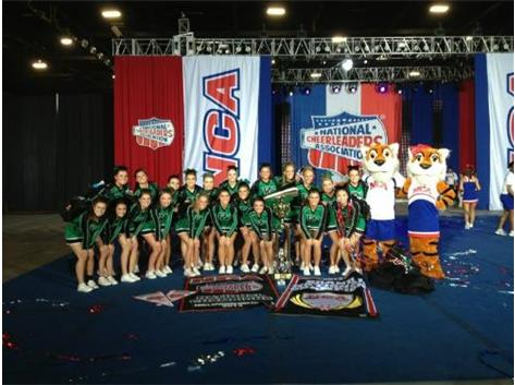 2012-13 The PCHS Varsity team was crowned NCA Open Nationals Grand National Champions in Louisville, KY on Feb. 23, 2013.  This is the fifth-consecutive National Champion title and third overall Grand Champion title for the Celtics.  The team also earned Best Tumbling and Innovative Choreography Awards.
