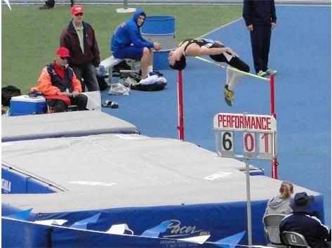 Mike finished in third place in the high jump down state in 2012.