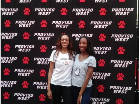 2 PW Lady Panthers T&F: Signed National Letters of Intent - Talia Robinson, right, signed with Bellarmine University & Cameryn Fisher signed with Indiana Tech