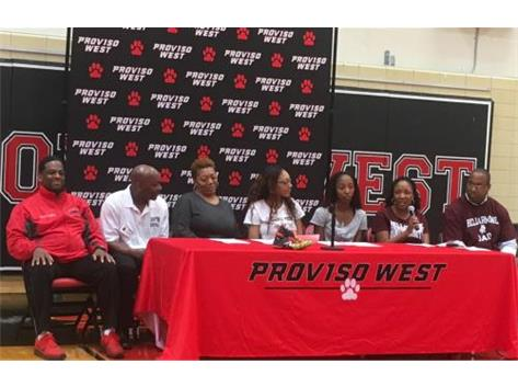 2 PW Lady Panthers T&F: Signed National Letters of Intent