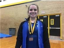 Campbell recieved awards for 8th Place on Vault and 10th Place in the All Around.