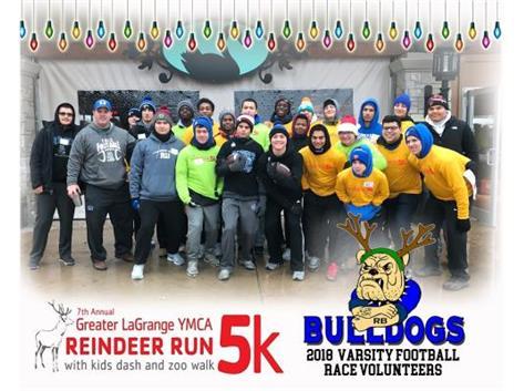 2018 Varsity Football Reindeer Run Volunteers