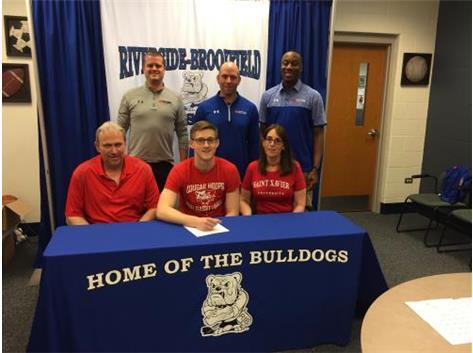 Ryan Cicenas college signing with St. Xavier. Congratulations Ryan!
