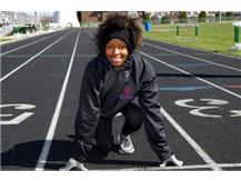 Deja ran 100m Hurdles, 300m Hurdles, High Jump, Triple Jump, 4x100m Relay, 4x200m Relay, and 4x400m Relay