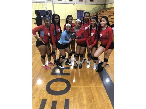 On 8/31 the JV Volleyball team placed 2nd at the TF North Invitational.