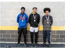 All-Conference Athletes Emmanuel Phelps 2nd (Middle) Chris Montgomery 4th (Left) Daniel Wright 8th