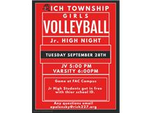 All Jr. High girls interested in playing volleyball at Rich Township come out and watch the Raptors in action!