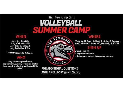 Register at anytime for the camp. If you have questions email apolensky@rich227.org.