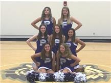 8TH GRADE FALL CHEERLEADING TEAM 2019 FOR RIDGEVIEW