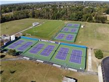 Brand new tennis courts are looking awesome!!!