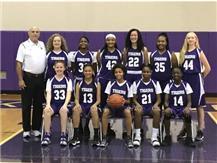The 2019 - 2020 Ridgeview Junior High 8th Grade Girls Basketball Team.