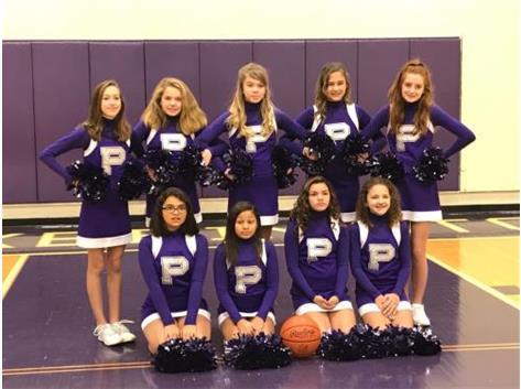 7th Grade Girls cheerleading 2018-2019 season