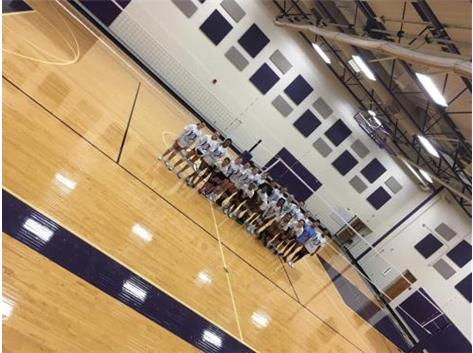 THE VOLLEYBALL TEAMS FOR 7TH AND 8TH GRADE, ENJOYING THER BRAND NEW DOUBLE COURT VOLLEYBALL NETS AND POLES, AWESOME!!!