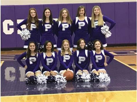 The 2019 - 2020 Ridgeview Junior High 8th Grade Cheer Squad.