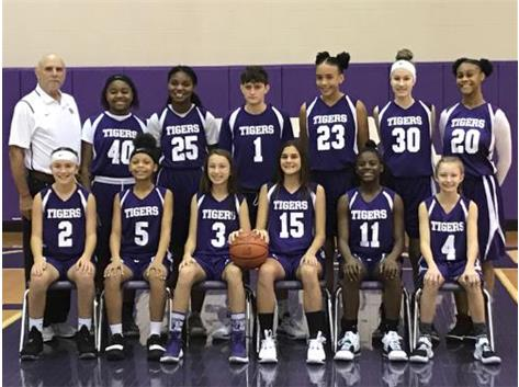The 2019 - 2020 Ridgeview Junior High 7th Grade Girls Basketball Team.
