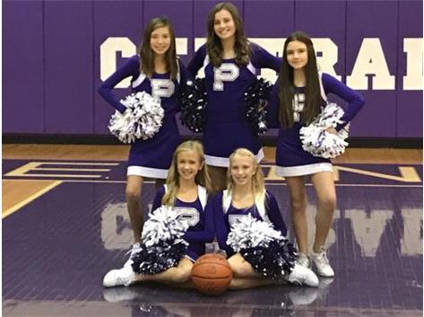 The 2019 - 2020 Ridgeview Junior High 7th Grade Cheer Team.