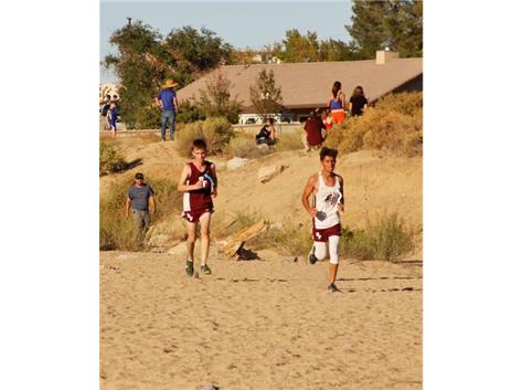 Senior runner Juan Carlos Guerrero and Freshman  runner Jacob Macey