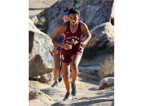 Freshman runner Chloe Martin