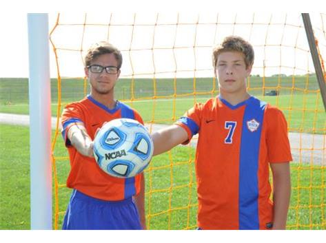 Boys Soccer Seniors - Austin Smith & Tyler Moushon