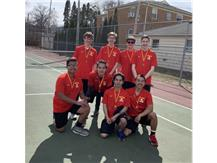 The varsity tennis team won the consolation bracket at the 2019 Rock Island Gold Invitational. Congratulations to the team on medaling at the first invite of the season!