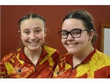2020-2021 Captains Carli Gordon and Sarah Stevanovic