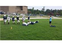 Heads up tackle training and drills.