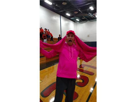 Coach Mead shows his spirit at Lisle