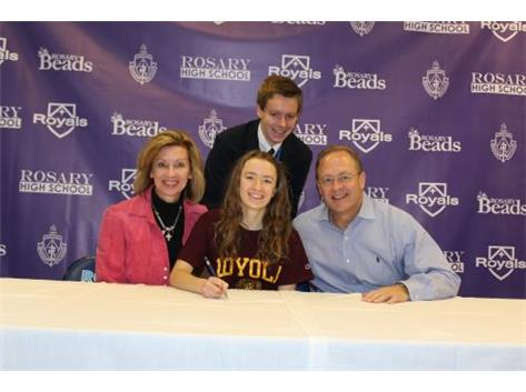 Claire Hengesbaugh Signing her NLI to Run XC and Track at Loyola University!