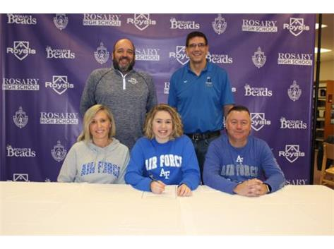 Mackenzie Adkins Signing her NLI to Swim at The United States Air Force Academy!